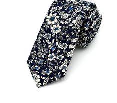 <b>Retail Mens Floral Neck</b> Tie Cotton Linen 6cm Wide Flower Ties ...