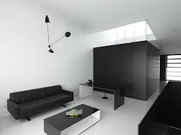 modern minimal home office in black and white design ian moore architects black and white office design