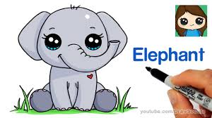 How to Draw an Elephant Easy - YouTube