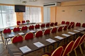 <b>Конференц</b>-зал нашего отеля, вместимость зала до 80 <b>человек</b>