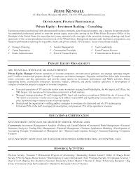 private equity resume resume template  private equity resume template