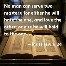 Image result for serving two masters