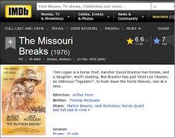 jack nicholson my favorite westerns missouri breaks imdb review