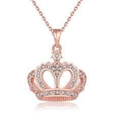 China <b>Fashion Crown</b> Pendant with <b>Czech Drill</b> Necklace Popular ...