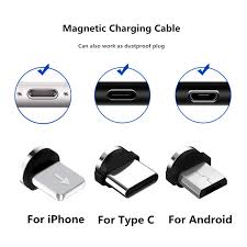 Round Magnetic Cable plug Type C Micro USB C <b>8 pin</b> Plugs <b>Fast</b> ...