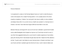 Personal Statement UCAS   A Level Miscellaneous   Marked by     Document image preview