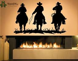 <b>YOYOYU Wall Decal Vinyl</b> Art Home Decor Wall Decal Cowboy ...