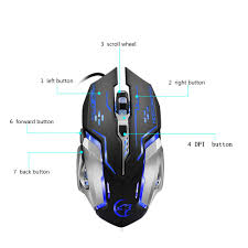 <b>G815 Gaming Mouse 3200Dpi</b> 6 Buttons Led Backlight Usb Wired ...