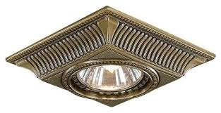 Встраиваемый <b>светильник Reccagni Angelo Spot</b> 1084 bronzo ...