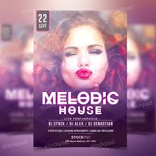 melodic house party psd flyer template stockpsd net