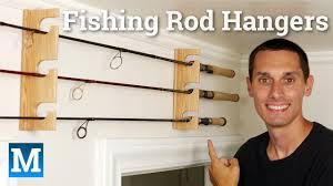 wood fishing rod wall rack