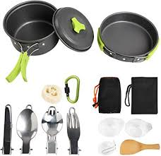 NEWSTYLE Camping <b>Cookware</b>, 15Pcs Backpacking Gear Hiking ...