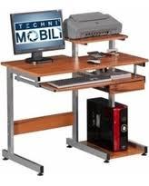 techni mobili conri wood computer desk in wood grain besi office computer desk
