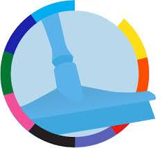 <b>Настенное крепление для</b> 4-6 предметов, 395 мм, синий цвет ...