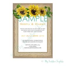 sunflower wedding invitation template sample rustic sunflower wedding invitation template sample