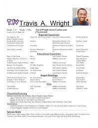 theater resume theater resume for kids acting resume and acting resume template on pinterest acting sample musical theatre resume