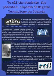 the potential impacts of digital technology on society thinglink