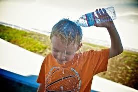 Resultado de imagen de golpe de calor en niños
