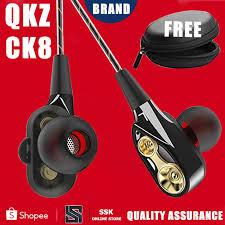 <b>QKZ CK8</b> 100% OriginalDual Driver <b>Earphones</b> Bass <b>Headset</b> HIFI ...