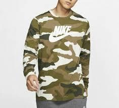 Новые мужские Nike Sportswear камуфляж длинный рукав ...