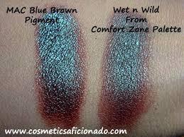 <b>mac blue brown</b> pigment dupe