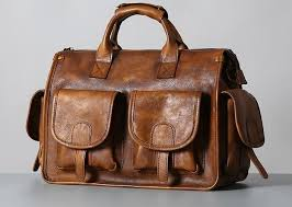 Handmade <b>Genuine Leather Vintage</b> Brown Mens <b>Travel</b> Bag Cool ...