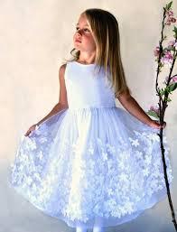 Flight of Fancy <b>Embroidered Flowers</b> Tulle <b>Girls Dress</b> – Isabel ...