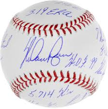 nolan ryan texas rangers autographed baseball career stats nolan ryan texas rangers autographed baseball career stats and accomplishments inscriptions limited edition of 34