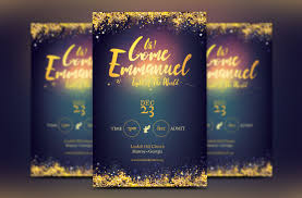 emmanuel christmas flyer template on behance