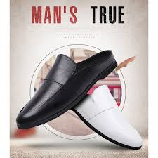 <b>New Cool Men</b> Driving Shoes Summer Backless Dress <b>Loafers</b> ...