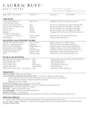 resume template musical theatre resume examples resume examples sample musical theatre resume