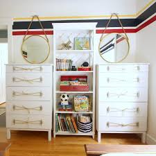 Ikea Tarva Dresser Hack Nautical Style With Rope And Dock Cleat Handles At  N