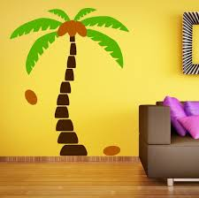 palm tree wall stickers: home decoration wall art living room decor wall stickers palm tree wall decals wall sticker tree