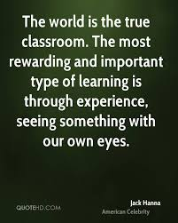 jack hanna quotes quotehd the most rewarding and important type of learning is