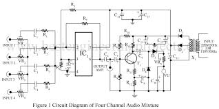 component  audio mixer circuit  circuit diagram creator wiring        circuit diagram creator wiring audio mixer board of four channel mi  large size