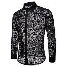 <b>2019</b> Luxury <b>Floral</b> Embroidery Lace Shirt Men <b>2019</b> Brand <b>New</b> ...