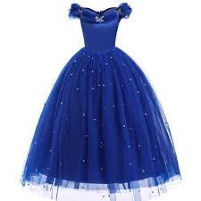 Buy HANGON <b>Cinderella Princess Girls Dress</b> Fairy Tales Deluxe ...