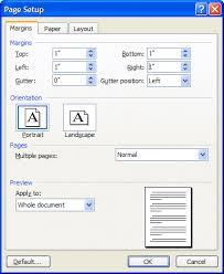 page setup dialog box mla format for essays