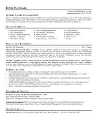 sample resume for project manager sample resume  project