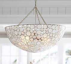 marina round pendant capiz shell lighting fixtures