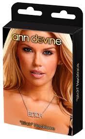<b>Ann</b> Devine <b>Цепочка с подвеской</b> Bitch (DIA-15) — купить по ...