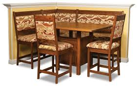 high country counter height nook dining set from dutchcrafters amish amish corner breakfast nooks