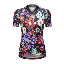 <b>WOSAWE Women Cycling Jersey</b> Floral Printed Breathable MTB ...