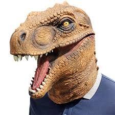 QTMY Latex Rubber <b>Dinosaur Tyrannosaurus Rex T-Rex</b> Mask for ...