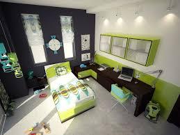black white green bedroom brown