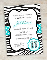 sleepover invitations printable sleepover slumber party printable zebra party invitations printable pink turquoise zebra polka dot girly girl birthday party