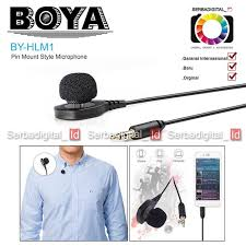 <b>Boya BY-HLM1</b> Pin Mount Style Microphone | Shopee Indonesia