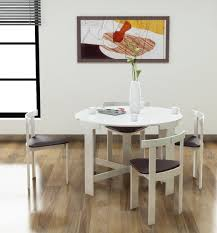 Space Saving Dining Room Tables And Chairs Space Saver Dining Is Also A Kind Of Interior The White Wooden