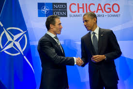 u s department of defense photo essay u s president barack obama right thanks nato secretary general anders fogh rasmussen at the