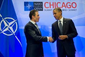 u s department of defense photo essay u s president barack obama right thanks nato secretary general anders fogh rasmussen at the